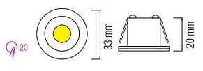 Светодиодный светильник Downlights LED MONICA-6К CHROME, фото 2