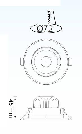 Светильник светодиодный встраиваемый Horoz Electric SONIA-5 5Вт 6400К 350Лм белый (016-035-0005-020), фото 2