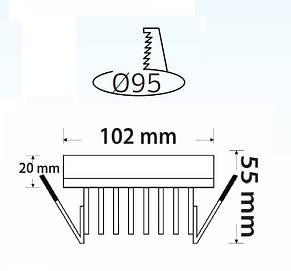 Светодиодный светильник Downlights LED VALERIA-9, фото 2