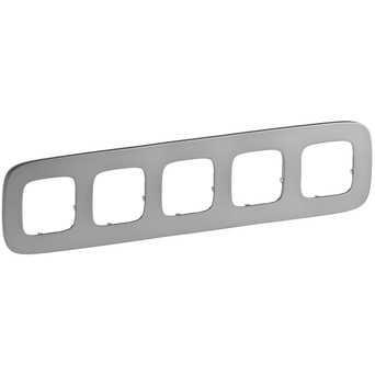 Рамка - Valena™ Allure - 5 постов - полированная сталь