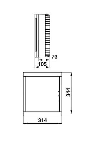 Щиток электрический на 24 модуля FUSE BOX-R-24, фото 2