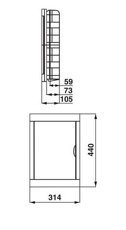 Щиток электрический на 36 модулей FUSE BOX-S-36, фото 2