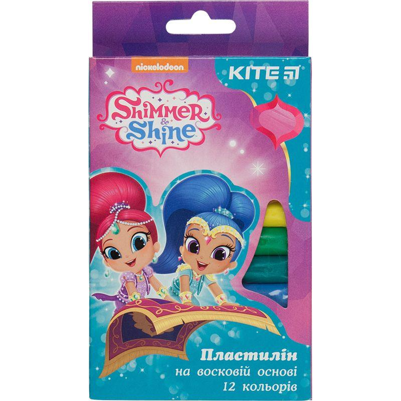 Пластилин восковый Kite Shimmer&Shine SH18-086, 12 цветов, 200 гр