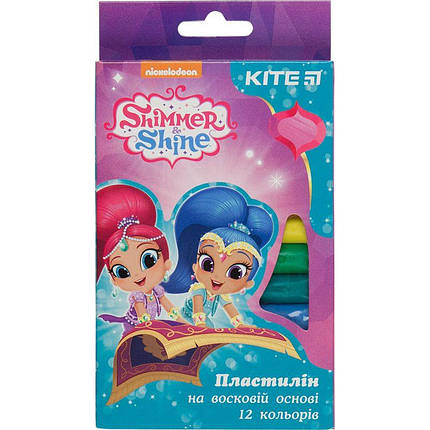 Пластилин восковый Kite Shimmer&Shine SH18-086, 12 цветов, 200 гр, фото 2