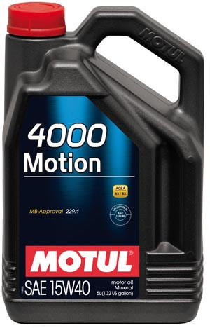 Моторное масло Motul 4000 MOTION 15W40 4L
