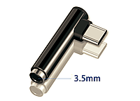 Переходник адаптер USB-C на mini Jack 3,5 мм на наушники MacBook Pro 2016/2017/2018/2019, фото 1