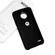 Cиликоновый чехол на Moto E4 Soft-touch Black