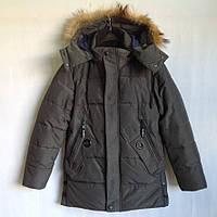 """Куртка зимняя """"Cakatu"""" #1917 для мальчиков. 9-10-11-12-13 лет (134-158 см). Темно-серая. Китай. Оптом, фото 1"""