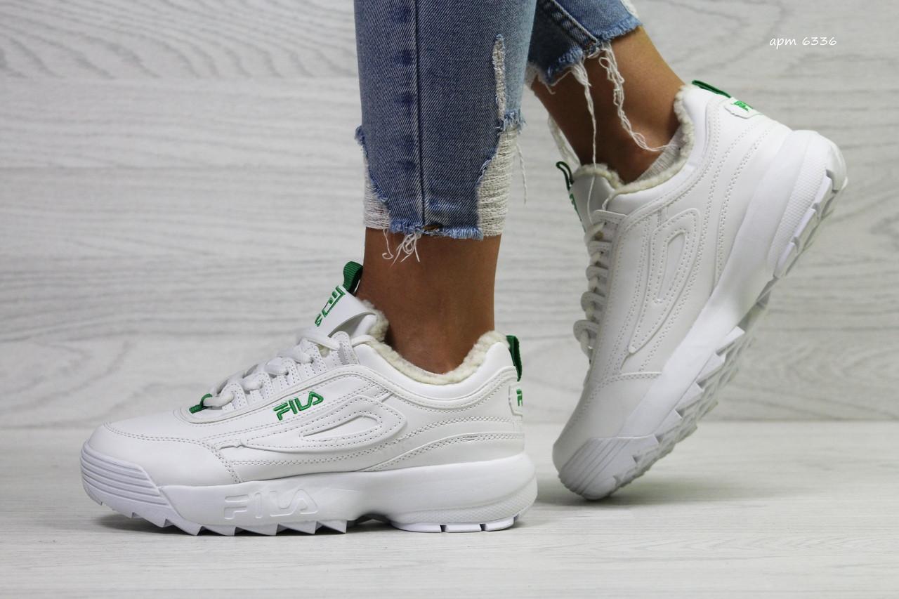 Стильные белые женские зимние кроссовки Fila  продажа, цена в ... 6f978b96621