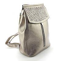 Сумка-рюкзак Valensiy золотистый трансформер со стразами, фото 1