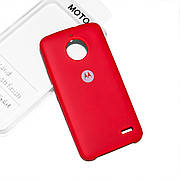 Cиликоновый чехол на Moto E4 Soft-touch Red