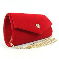e74bd3c33b59 Велюровая красная вечерняя сумка-клатч Rose Heart: продажа, цена в ...