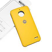 Cиликоновый чехол на Moto E4 Soft-touch Yellow