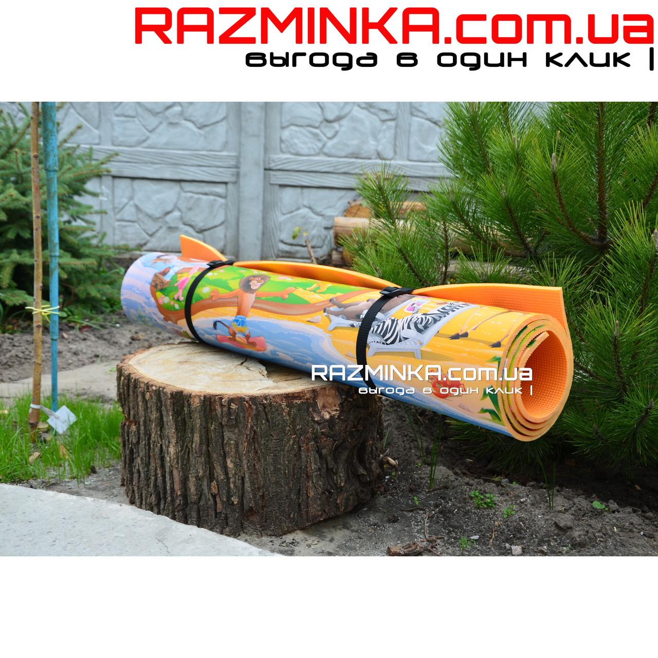 Коврик Киндерпол Мадагаскар 200х120см, толщина 8мм, оранжевый