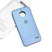 Cиликоновый чехол на Moto E4 Soft-touch Sky Blue