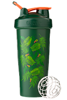 Спортивный шейкер BlenderBottle Classic Loop 820ml Special Edition Green-Coral (Art Palm)  (ORIGINAL) , фото 1