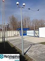 Осветительные стальные восьмигранные парковые опоры OSL 40/3, H=4m, t=3mm