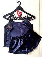 шорты с майкой , комплект для сна из атласа, фото 1