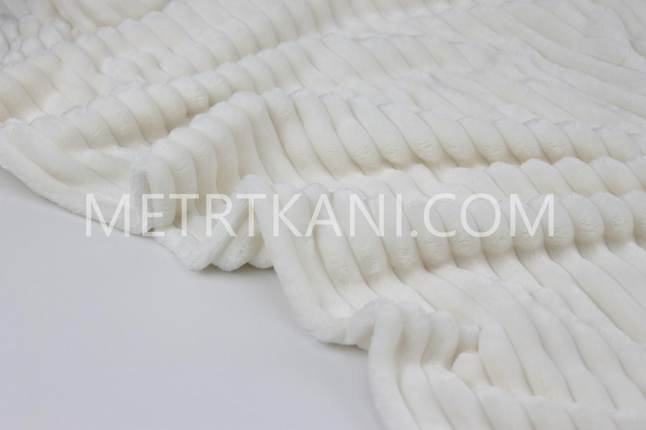 Плюш Minky Stripes цвета слоновая кость № с-3