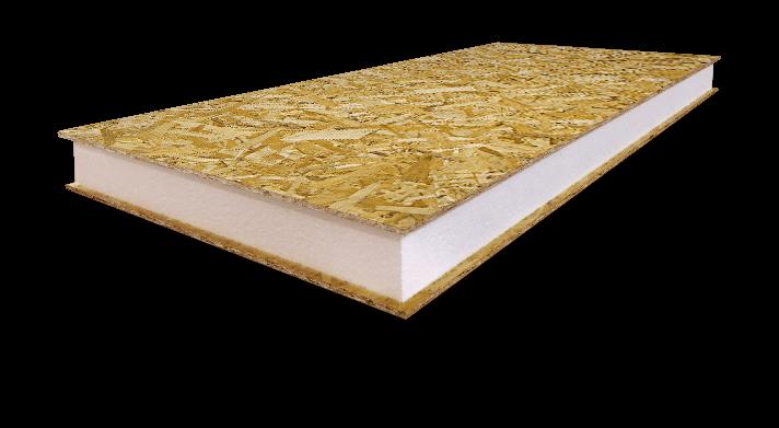 SIP панель KLIMM - ПБС-С-25 для внешних и внутренних стен, крыши (Пенополистирол белый)
