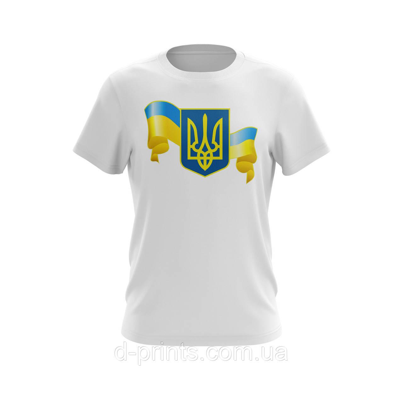 "Футболка мужская с рисунком ""Украина"" MF-12-07"