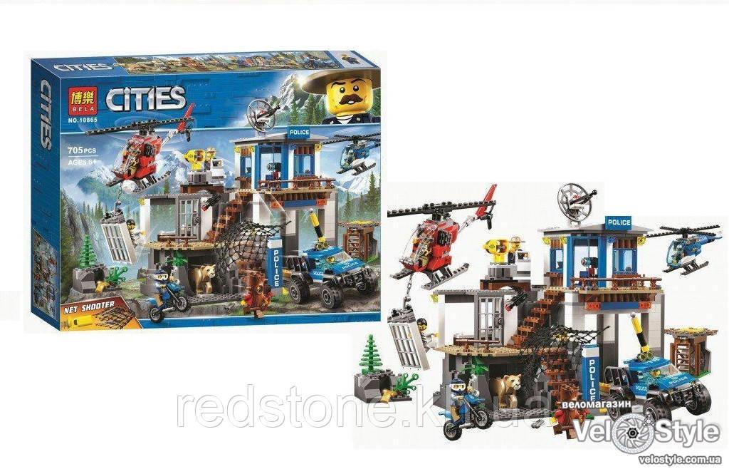 Конструктор Bela 10865 (Lego City 60174) Полицейский участок в горах, 705 дет.