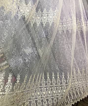 Тюль фатин Турция опт IST-1004 крем, фото 2