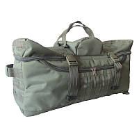 Сумка-рюкзак дорожная 65 литров Водоотталкивающая ткань 600x600D Оливковая с MOLLE