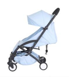 Yoya Care Wide Blue Голубая Прогулочная детская коляска Алюминиевая Черная рама