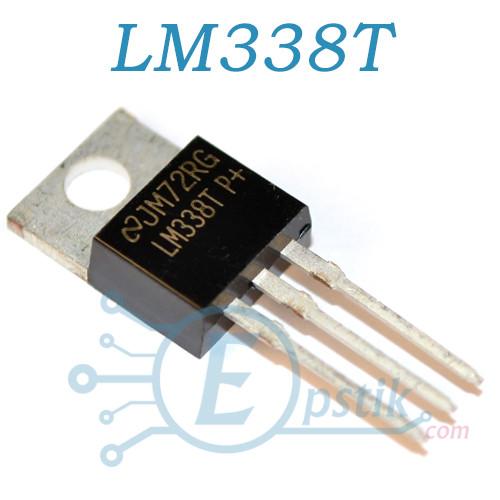 LM338T, регулируемый стабилизатор напряжения, 5А, 1.2В…32В, TO220