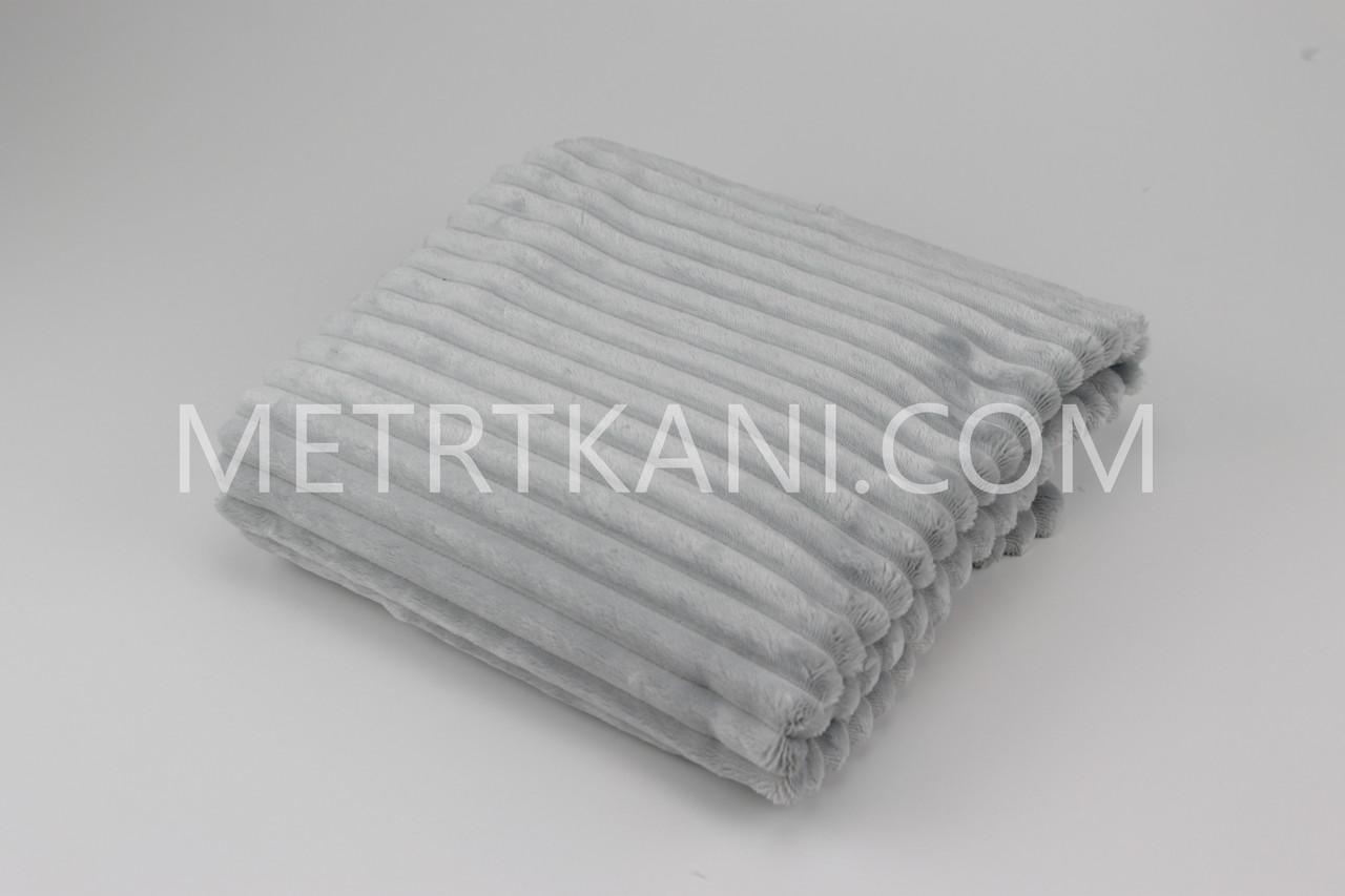 Плюш  Stripes светло-серого цвета отрез 100*80 № с-21