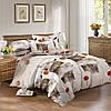 Двуспальный комплект постельного белья евро 200*220 сатин (10293) TM КРИСПОЛ Украина