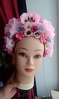 """Кокошник на голову """"Украинский розовый"""", фото 1"""