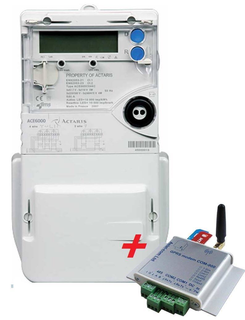 Электросчетчик ACE 6000 класс 10-100A + модем GSM/GPRS-модем СОМ-900