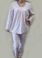 b81b41783750 Теплая пижама с начесом байковая женская зимняя хлопковая комплект домашний  кофта и штаны