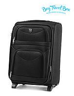 В продаже большой чёрный тканевый чемодан Wings 6802 на 2-х колёсах😍