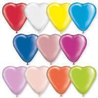 """Латексные воздушные шары Gemar 10"""" (25 см) сердца, ассорти 100 шт"""