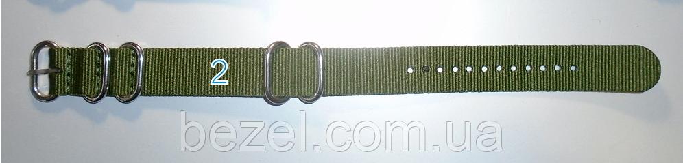 Ремешок NATO толстый нейлон с 5-ю кольцами 20 мм