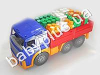 Машина Акрос бортовая №3 с конструктором беби-блок(4 цвета)