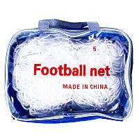 Сетка на ворота футбольные любительская узловая (2шт) (нить 3мм, ячейка 7x7см, р-р 5*3 м), фото 1