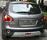 Накладка на передний и задний бампера Nissan Qashqai (2008-2013), фото 6
