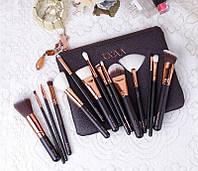 Набор кистей в косметичке Zoeva Brown 15 штук, фото 1