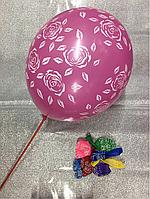 Латексные воздушные шарики - Розы 12 (30см)