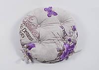 Подушка на стул Lotus круглая Ø 40 Ella лиловый с завязками
