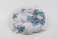 Подушка на стул Lotus круглая Ø 40 Doris бирюзовый с завязками