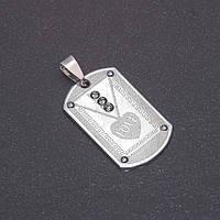 Кулон Love серый металл 35х21х42мм