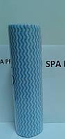 Салфетки  однораз.сетка 25х30 голубая/розовая волна (спанлейс пл.50)(100шт/рул.)