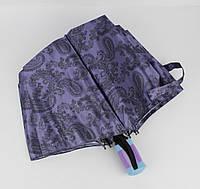 Крепкий складной зонт полуавтомат Mario 949-2 сиреневый, восточные мотивы
