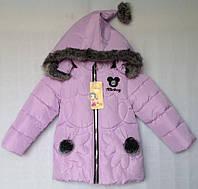 """Куртка зимняя """"Tengyun"""" #K-456 для девочек. 1-2-3-4 года (86-104 см). Сиреневая. Китай. Оптом, фото 1"""