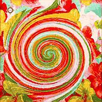 """Схема-заготовка для вышивки подушки """"В вихре цветов"""""""